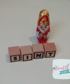 houten blokken Sint, Sinterklaas blokken
