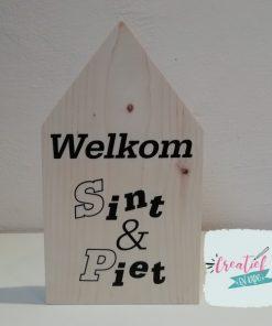 houten huisje Welkom Sint & Piet