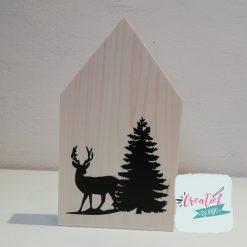 houten huisje kerstmis
