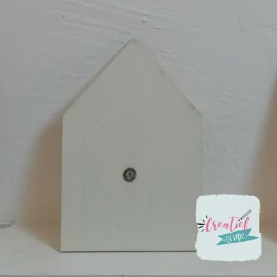 blanco houten huisje kaart