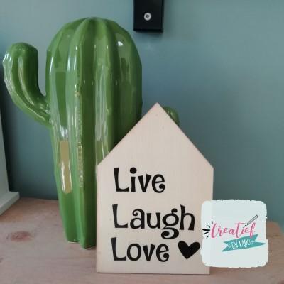 live laugh love kaart