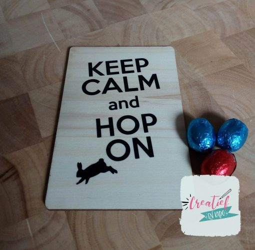 Pasen kaart keep calm and hop on