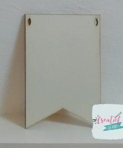 blanco houten vaandel