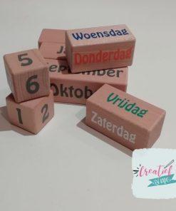 houten blokken voor kalender