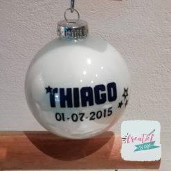 kerstbal naam en geboortedatum, kerstbal wit