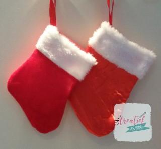 kerstsokken met naam rood