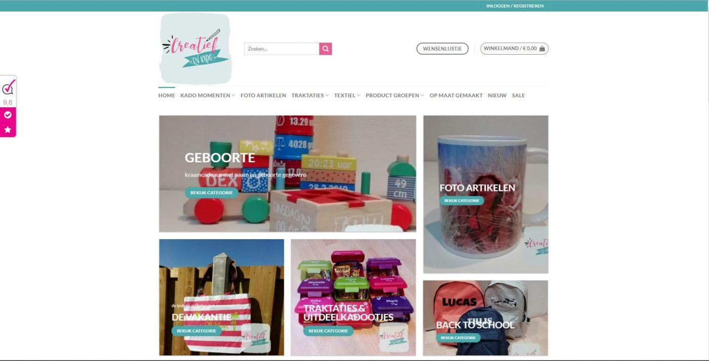 nieuwe webshop CreatiefenKado