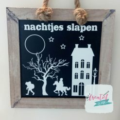 krijtbord Sinterklaas nachtjes slapen