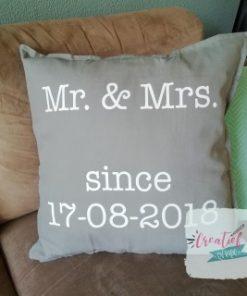 kussenhoes huwelijk, trouwcadeau