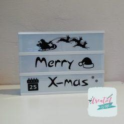lightbox stroken merry xmas