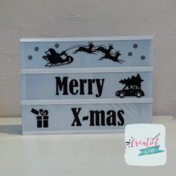 lightbox stroken kerstmis, merry xmas