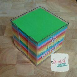 memo kubus leerkracht, kleurrijk schooljaar cadeautje