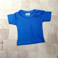 mini shirt blauw met eigen opdruk