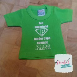 mini shirt papa superheld logo