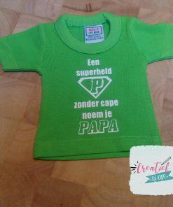 mini shirt papa superheld logo