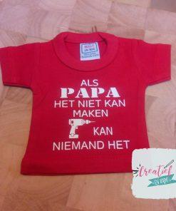 mini shirt rood Vaderdag papa