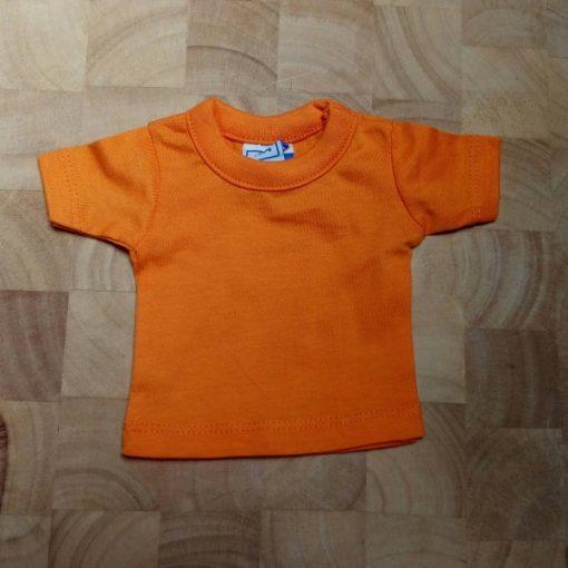 mini shirtje oranje blanco