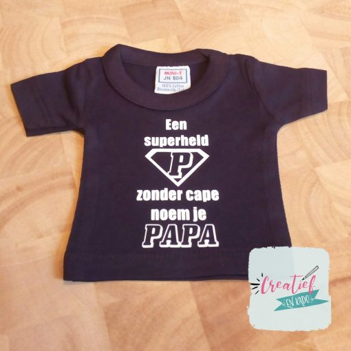mini shirt navy papa superheld