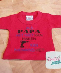 mini shirt Vaderdag papa
