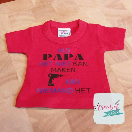 mini shirt Vaderdag papa
