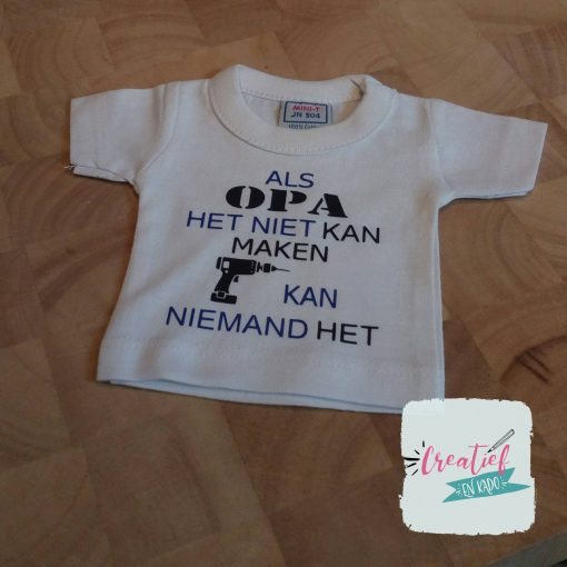 mini shirt wit Vaderdag opa