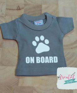 mini shirt grijs dog on board