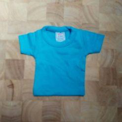 mini shirt turquoise blanco