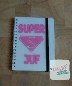 notitieboekje wit superjuf