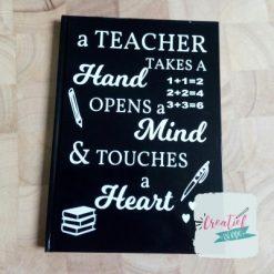 notitieboek teacher zwart