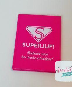 notitieboek superjuf roze
