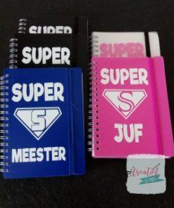 notitieboekje Superjuf en supermeester