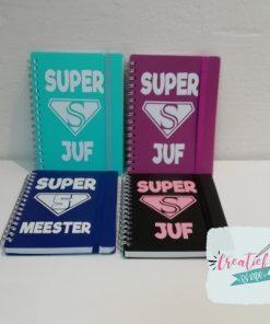 superjuf en supermeester notitieboekjes