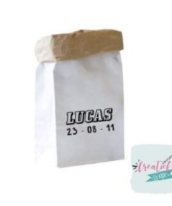 paperbag naam en geboortedatum