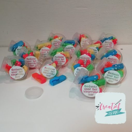 potjes mini markers, potje stiften, kleurrijk jaar