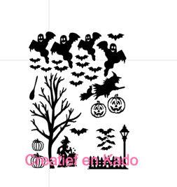 raamsticker Halloween straat aanvulling