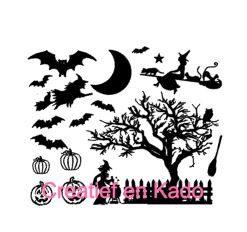 raamsticker Halloween straatje basis