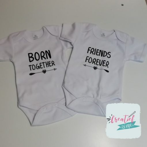 romper born together friends forever, romper wit