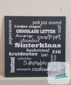 tekstbord Sinterklaas