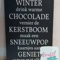tekstbord winter