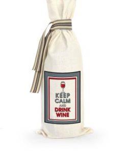 wijn sakkie, keep calm and drink wine