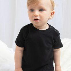 baby t-shirt zwart met naam