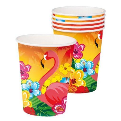 hawai beker, flamingo beker, traktatie beker