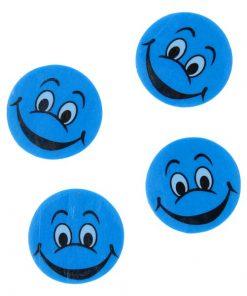 gezicht gum blauw, traktatie school