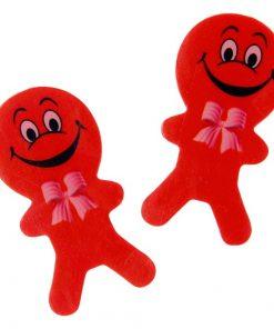 gezicht gum poppetje rood, trakteren