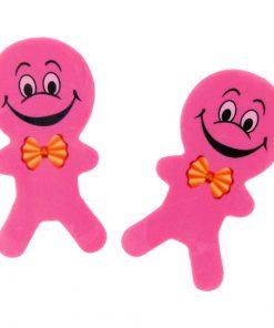 gezicht gum poppetje roze, uitdeelkadootjes
