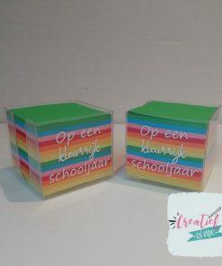 memo kubus juf kleurrijk schooljaar
