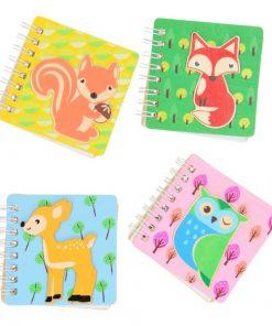 bosdieren mini notitieboekje