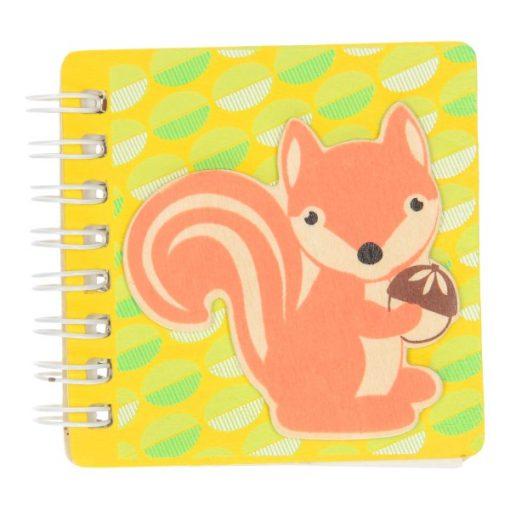 bosdieren notitieboekje eekhoorn