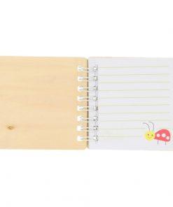 bosdieren notitieboekje open