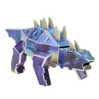 3d dino blauw